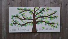Fingerprint Tree  Wedding Guest Book by EndsOfTheEarthDesign, $18.00