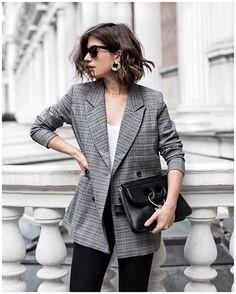 Checked Blazer Trend | POPSUGAR Fashion