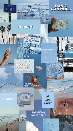 BLUE AESTHETIC IPHONE WALLPAPER ☆ INSTAGRAM STORY