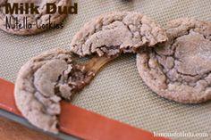 Milk Dud Nutella Cookies
