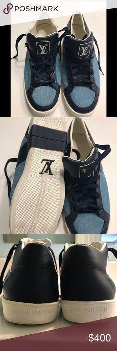 1047e9f3c3eb Louis Vuitton shoes Blue Jean high top sneakers Louis Vuitton Shoes Sneakers