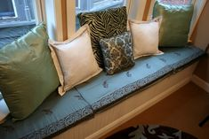How To Make No-sew Window Seat Cushions {craft Room Update}
