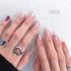 ワントーンで統一したニュアンスデザインに、クリアなウルトラバイオレットを差し色としてオン♪複数の柄を組み合わせてもシンプルで洗練された印象があるので、春カラーのウルトラバイオレットが際立ちます✨(id:2873465)