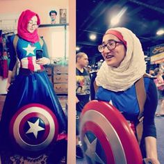 Or this Captain America? | 15 Hijabi Cosplayers That Are Flawless
