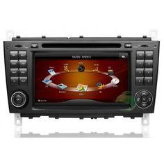 In-Dash Auto DVD Gps navigation Stereo für Mercedes-Benz C-Klasse W203 mit Radio TV Bluetooth Ipod