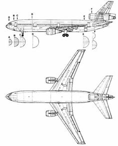 Dc-10 Aircraft For Sale pictures orinals | ... .com - Blueprints  Modern airplanes  Douglas  Douglas DC-10@dads one of his jobs @