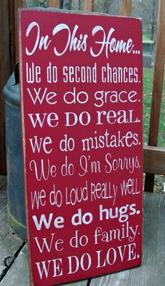 Large Wood Sign In This Home We Do Second by BedlamCountryCrafts, $65.00