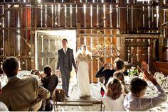Barn Wedding - Love the way the light comes through