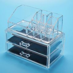 storage accessory Transparent Acrylic Cosmetic Organizer Drawer Makeup Case Storage