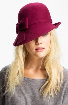 Halogen® Asymmetrical Wool Cloche available at #Nordstrom