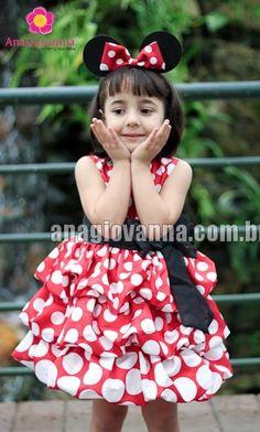 Vestido infantil de festa no tema Minnie! Lindo!    Foto/Marca: loja virtual: Ana Giovanna