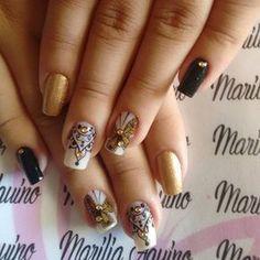 """141 curtidas, 3 comentários - Inspirações para as unhas (@keycacau) no Instagram: """"@mariliaaquino_ #nailart #unhasdediva #unhasdecoradas #unhaskeycacau #joiasdeunhas"""""""