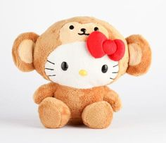 Hello Kitty 8 Safari Plush: Monkey this is so cute! now i want one! $17.50 at sanrio.com