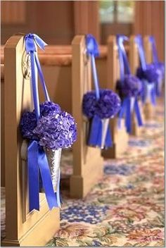 Pew flowers  - aisle markers