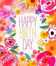 Birthday Quotes QUOTATION – Image : Quotes about Birthday – Description Margaret Berg Art : Illustration : florals / spring: Sharing is Caring – Hey can you Share this Quote ! Happy Birthday Messages, Happy Birthday Quotes, Happy Birthday Images, Happy Birthday Greetings, Birthday Pictures, Birthday Posts, Birthday Love, Happy Birthday Floral, Funny Birthday