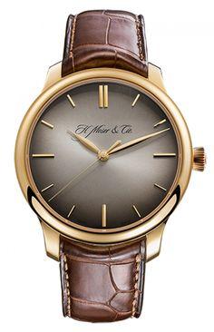 H. Moser 1343-0105 Centre Seconds Endeavour - швейцарские мужские часы наручные, золотые, серые