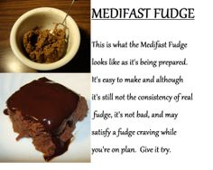 Medifast Fudge...recipe next to this photo!