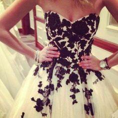 #dress #black #flowers