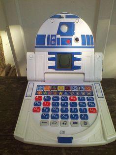 Star Wars R2 D2 Jr Laptop C3PO Talks Lights LCD Screen Oregon Scientific  #OregonScientific