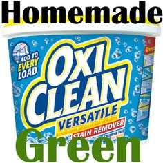 It's so easy to make Homemade Green OxiClean. Save money and stop worrying about mystery ingredients and chemicals.