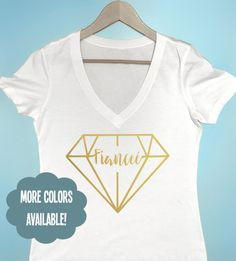 Fiancee Diamond T-shirt Bachelorette Party Shirts by BeEverThine