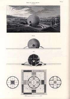 """ryanpanos: """" Claude Ledoux's Spherical house: 1789-1806 via Retronaut """"Claude-Nicolas Ledoux (1736–1806) was an architect whose greatest works were funded by the French monarchy and came to be..."""
