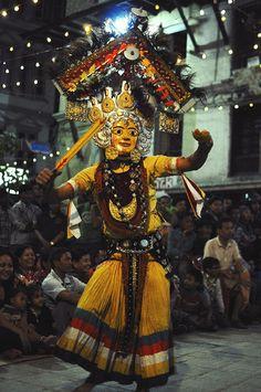 Masked dancers from Kathmandu