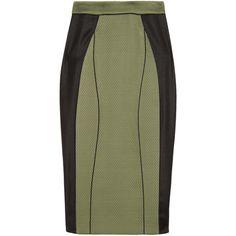 Jason Wu Paneled stretch-jersey pencil skirt ($945) found on Polyvore