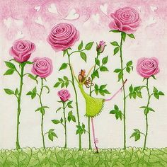 4 x Single Luxury Paper Napkins for Decoupage and Craft Rose Garden