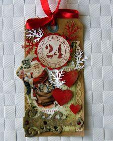 Jeg har brugt TH dies til at lave tag .Jeg har brugt sværte, stempler fra Inkido-24- vintage julemand og papir fra inkido Du må have e...