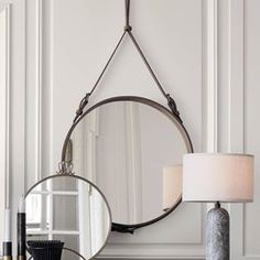 GUBI // Andet Circulaire Mirror, Randaccio Mirror and Gravity Table Lamp