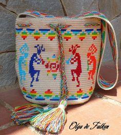 View album on Yandex. Mochila Crochet, Crochet Tote, Crochet Purses, Filet Crochet, Knit Or Crochet, Tapestry Bag, Tapestry Crochet, Embroidered Bag, Knitting Accessories