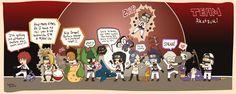 Naruto Shippuden » Humor » Comic   Crossover Pokemon, Team Rocket x Naruto, Team Akatsuki! Sasori + Skorupi, Deidara + Electrode, Tobi + Igglybuff, Zetsu + Victreebel, Itachi + Buizel, Konan + Butterfree, Pein + Magnemite, Kisame + Sharpedo, Hidan + Duskull, Kakuzu + Meowth   #sasori #deidara #tobi #zetsu #itachi #konan #pein #kisame #hidan #kakuzu ~These Akatsuki + Pokemon pairings are perfect beyond words. And oh gosh Deidara was mistaken for a girl again!