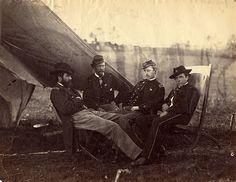 Alexander Gardner, Four Officers, 1864