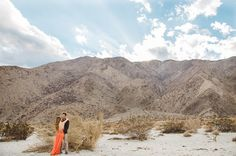 Gorgeous Indie desert engagement photo by @mytwinlens
