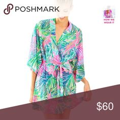 IN SEARCH OF (ISO) Lilly Pulitzer palm robe!!! Trying to find this robe! Super expensive online so thought I'd try here! Preferably not used but slightly used is ok. Lilly Pulitzer Intimates & Sleepwear Robes