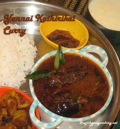Yennai kathirikai/ Brinjal tangy curry
