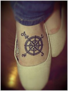 "compass tattoo designs, this could be really cute with the quote ""Not all who wander are lost"""