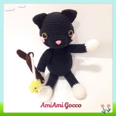 A personal favorite from my Etsy shop https://www.etsy.com/listing/290007045/amigurumi-cat-amigurumi-black-cat