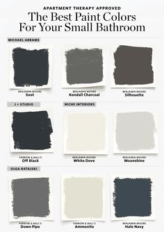 16 Perfect Paint Shades for Your Bathroom - Here are the Best Paint Colors for Your Small Bathroom - Best Paint Colors, Paint Colors For Home, House Colors, Small Room Design, Bathroom Design Small, Bathroom Remodel Small, Bathroom Remodeling, Small Bathroom Renovations, Designs For Small Bathrooms