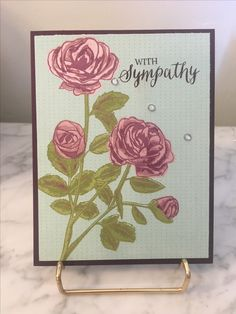 Sympathy card using Petal Garden DSP from Stampin Up