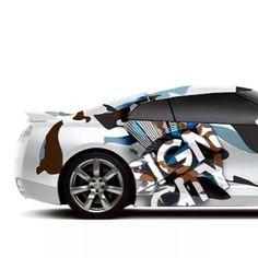 Nissan GTR wrap design #WrapDetroit @Sign City Detroit #SignCityDetroit - Detroit Vehicle Graphics Sign City Detroit Vehicle Wrap