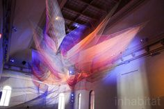 Janet Echelman's dazzling aerial sculpture maps the devastating power of an earthquake