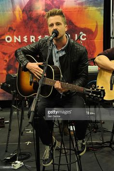 Musician Ryan Tedder of OneRepublic promotes 'Native' at Best Buy on March 26, 2013 in New York City.