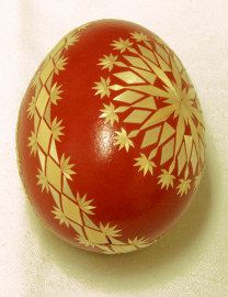 Barley straw decorated egg, from FolklorWeb.cz. - Czech Rep.