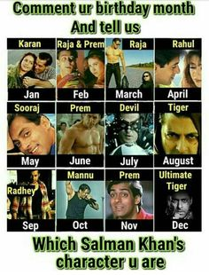 What character of sallu is yours Girly Facts, Weird Facts, Fun Facts, Salman Khan Quotes, Birthday Month Quotes, Jokes Quotes, Qoutes, Salman Khan Photo, Sajid Khan