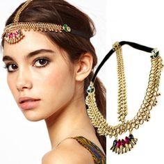 2017 New Bohemia Hair Jewelry Barrettes Hair Clip Hairpin Head chain for Women Hair Accessories Accessory Headpiece  #Affiliate
