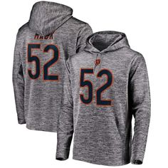 Khalil Mack Chicago Bears NFL Pro Line by Fanatics Branded Streak Fleece  Name   Number Pullover Hoodie - Gray 6693b4483