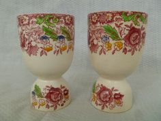 Vintage Egg Cups English Staffordshire Victorian by FairchildsInc, $32.00