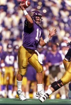 Quarterback Marques Tuiasosopo of the Washington Huskies throws the ball during a game against the Nebraska Cornhuskers at Husky Stadium in Seattle...